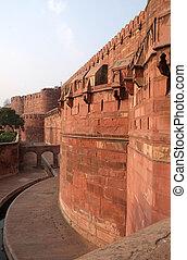 世界, agra., pradesh, サイト, 赤い要塞, india., uttar, ユネスコ, 相続財産