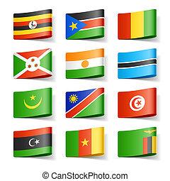 世界, flags., アフリカ。