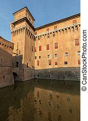 世紀, イタリア, towered, 第14, 4, ferrara, emilia-romagna romagna, ...