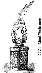 世紀, 大きさ, engraving., ペン, 型, 16番目