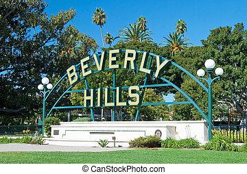 丘, 公園, 印, アンジェルという名前の人たち, los, beverly
