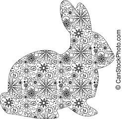 东方野兔, zentangle