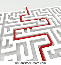 中に, ∥, 迷路, -, ビジネス 概念