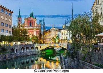 中世, europe., ljubljana, スロベニア, ロマンチック