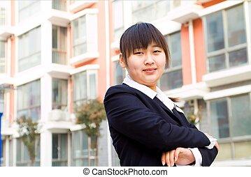中国の女性, 若い, ビジネス