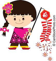 中国の新年, 女の子