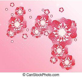 中国の新年, 背景, 花, sakura, ブランチ