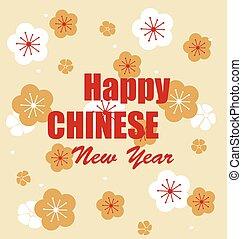 中国の新年, design., ベクトル, illustration.