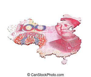 中国のyuan, 地図
