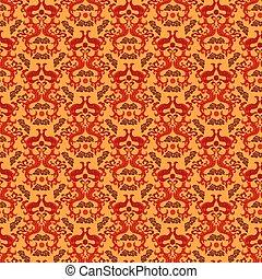 中国語, アジア人, ドラゴン, スタイル, seamless, パターン, バックグラウンド。, 伝統的である, ベクトル, 装飾