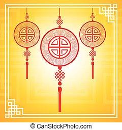 中国語, カラフルである, 抽象的, 装飾, 伝統的である, 背景, 旗