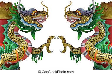 中国語, スタイル, twin, ドラゴン