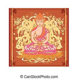 中国語, パターン, 伝統的である, 仏教, ベクトル, 芸術的