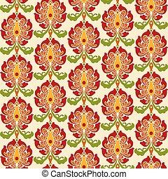 中国語, パターン, ornament., seamless, 伝統的である, バックグラウンド。, ベクトル, アジア人