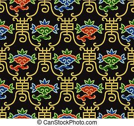 中国語, パターン, seamless, 長命