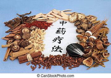 中国語, 伝統的である, 草療法