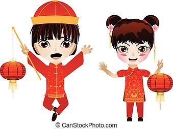 中国語, 司厨員と少女
