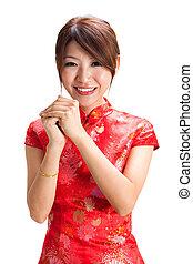 中国語, 女の子, 祝福