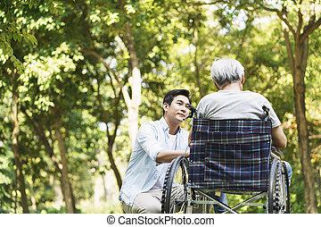 中国語, 慰めること, 父, 息子