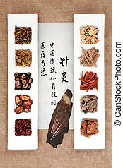 中国語, 草療法