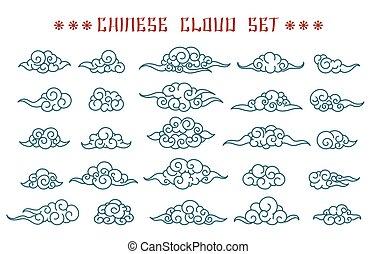 中国語, 雲, セット
