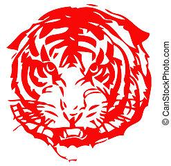 中国語, 黄道帯, の, tiger