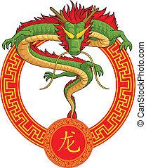 中国語, 黄道帯, 動物, -, ドラゴン