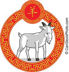 中国語, 黄道帯, 動物, -, goat