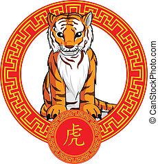 中国語, 黄道帯, 動物, -, tiger