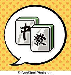 中国語, mahjong, いたずら書き