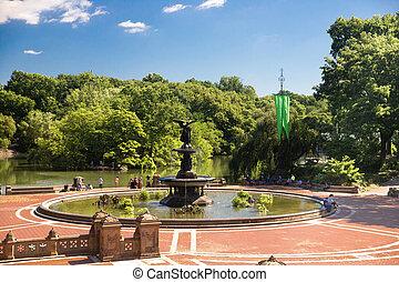 中央である, 噴水公園