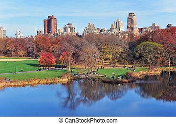 中央である, 新しい, 公園 都市, ヨーク, 秋