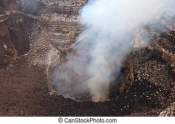中央である, america., ニカラグア, masaya, 火山, masaya
