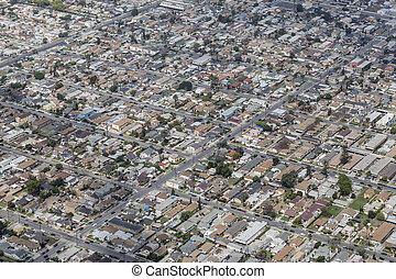 中央である, los, 南, アンジェルという名前の人たち, 航空写真