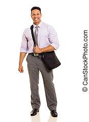中央の, 年齢, ビジネスマン, 積載の袋