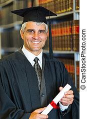 中央の, 年齢, マレ, 卒業生, 保有物, 卒業証書