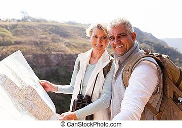 中央の, 年齢, 観光客, 保有物, 地図
