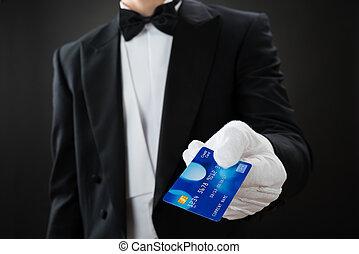 中央部, の, ウエーター, 保有物, クレジットカード