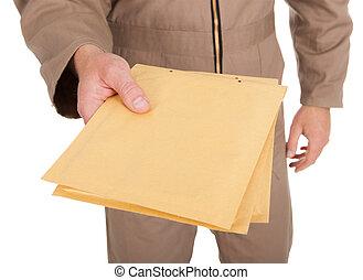 中央部, の, 郵便集配人, 保有物, 封筒