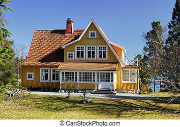 中央, スウェーデン語, 家, クラス