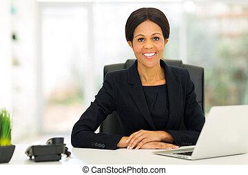 中央, 女性実業家, 年を取った, オフィス, アフリカ