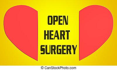 中心の 外科, 概念, 開いた