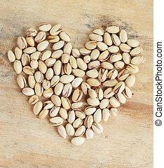 中心の 形, ナット, pistachio