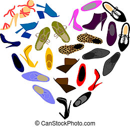 中心の 形, 靴