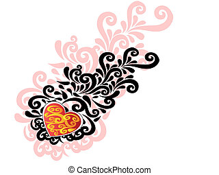 中心形, バレンタイン, 装飾