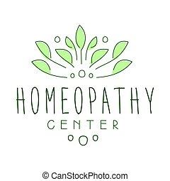 中心, シンボル, homeopathi, イラスト, ベクトル, ロゴ