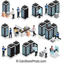中心, データ, 等大, コレクション