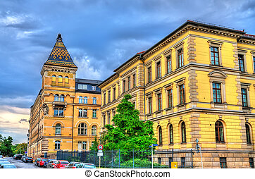 中心, ドイツ, 建物都市, leipzig, 管理上