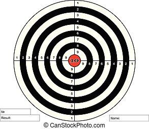 中心, ベクトル, 射撃目標, 赤
