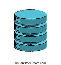 中心, 図画, データ, ネットワークサーバー